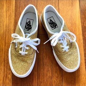 NWOT Vans Gold Glitter Women/Men sneakers.